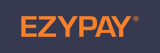 Ezypay logo blue background
