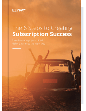 Ezypay 6 Steps To Subscription Success eBook